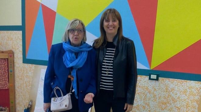 la vicesindaco di Fucecchio Emma Donnini con la coordinatrice pedagogica Roberta Baldini
