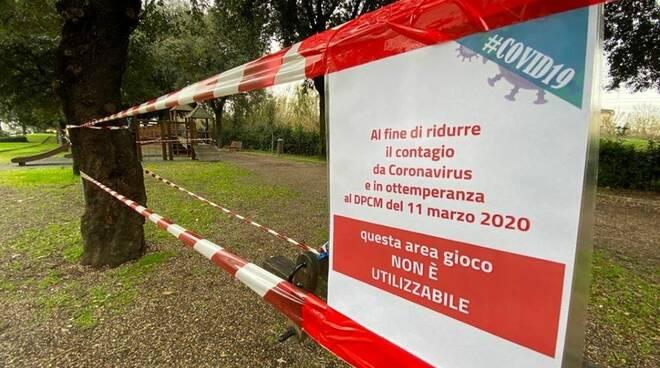 parco chiuso a empoli per emergenza coronavirus