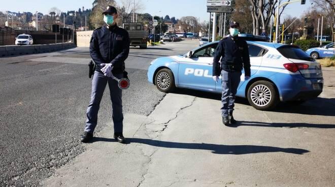 polizia mascherine controlli coronavirus
