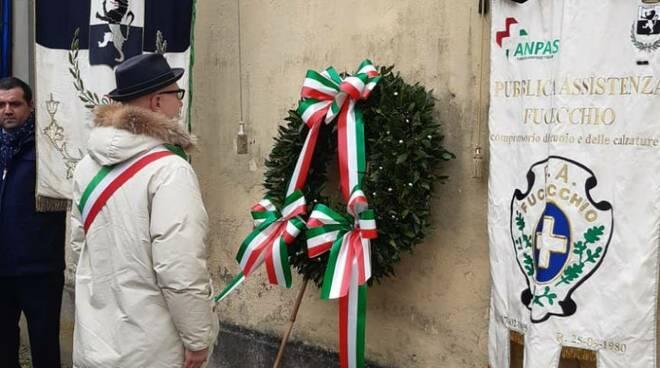 Spinelli gonfalone commemorazione deportati Saffa Fucecchio