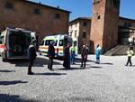 ambulanza misericordia covid 19 san miniato inaugurazione vescovo in piazza duomo