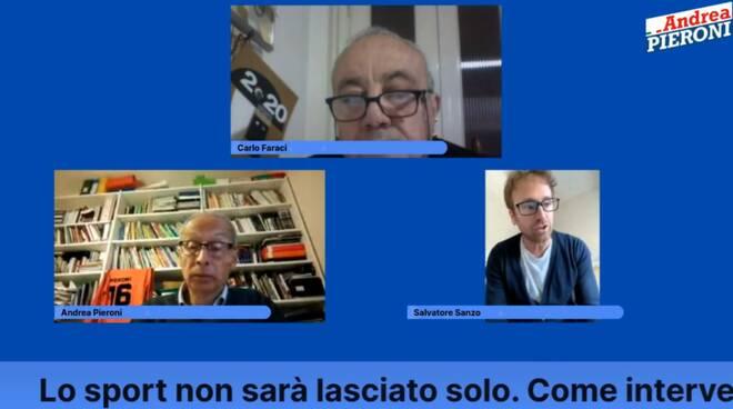 Andrea Pieroni, Salvatore Sanzo, Carlo Faraci sullo sport