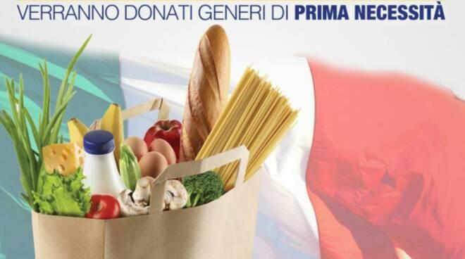 Casapound Lucca raccolta alimentare emergenza crisi economica
