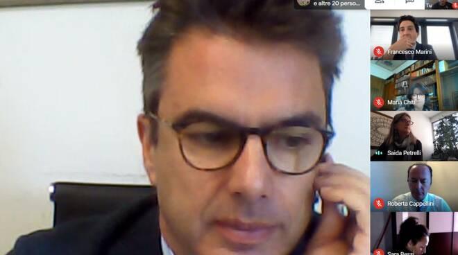 Giulio Grossi Confindustria Lucca presidente videoconferenza