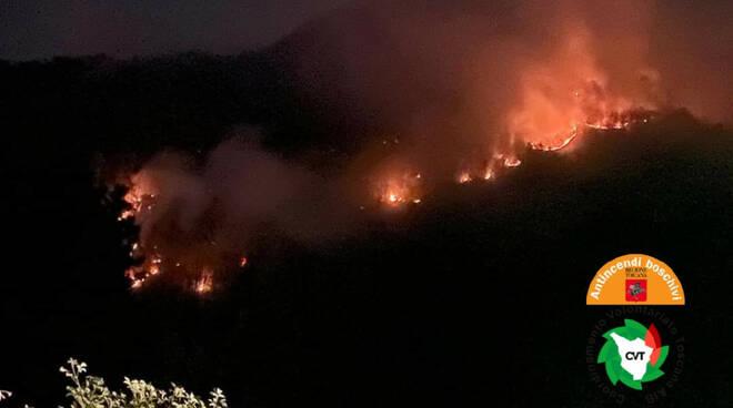 Incendio a Villa Basilica