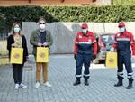 L'Associazione Nazionale Carabinieri di Fucecchio consegna uova di Pasqua