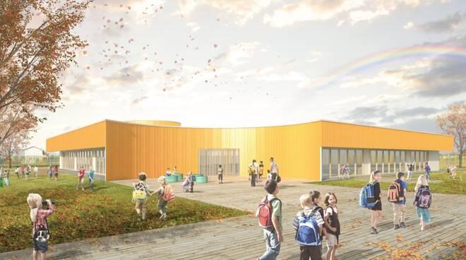 lavori nuova scuola elementare Badia Pozzeveri