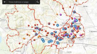 mappa del contagio a Lucca