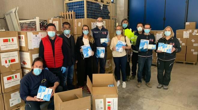 mascherine comunità cinese toscana donazione