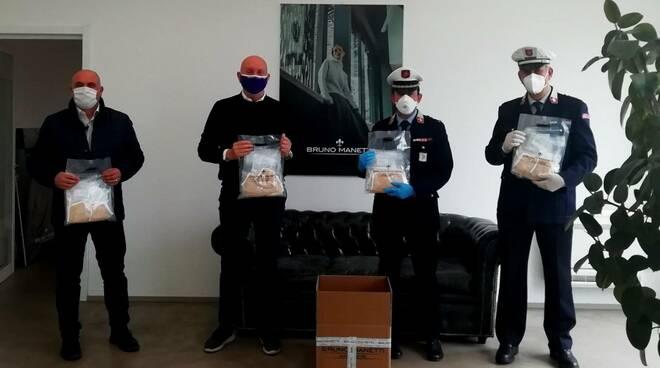 Mascherine fashion per la polizia municipale dell'Empolese Valdelssa