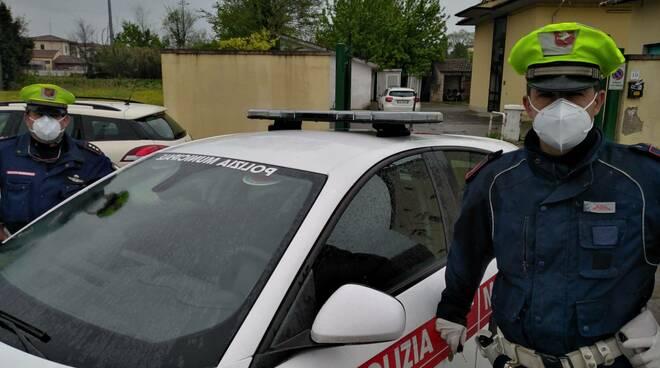 mascherine polizia municipale
