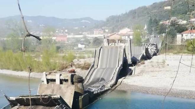 ponte crollato ad albiano magra