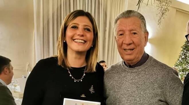 Renzo Soldani presidente cuoiopelli santa croce sull'arno con Giulia Deidda