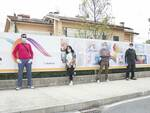 striscione ospedale San Luca Lucca trenta metri per il San Luca