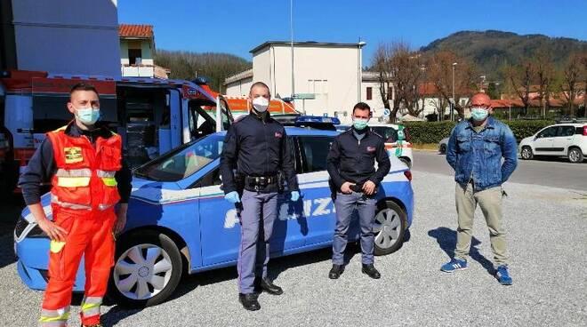 volanti polizia sanificate