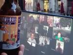 Brindisi virtuale in via dei Borghi