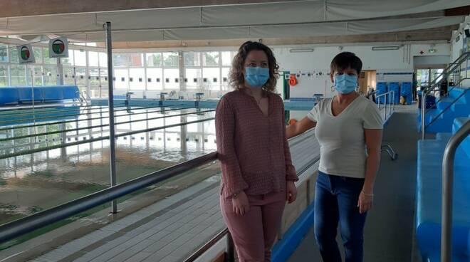 Carmassi e Micheli assessori piscina comunale Capannori
