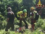 elisoccorso San Giuliano Terme bosco vigili del fuoco
