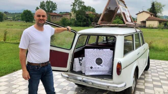 Ezio GianninI Simone Giannini negozi porta a porta furgoncino Quick Moda