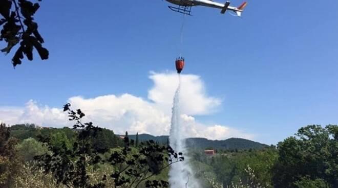 incendio Cusignano San Miniato 7 maggio 2020