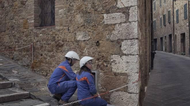 lavori E-Distribuzione centro storico