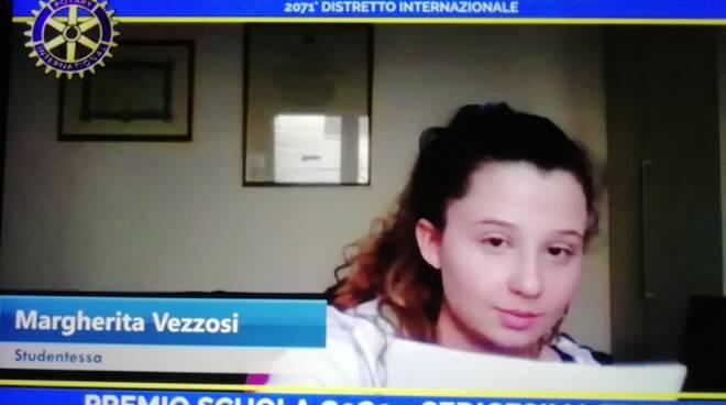 Margherita Vezzosi vincitrice 2020 premio Scuola Rotary Fucecchio Santa Croce sull'Arno