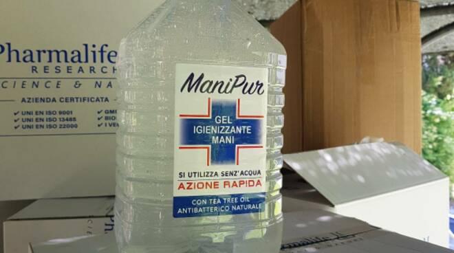 mascherine gel sanificante Michele Sarti Magi raccolta fondi