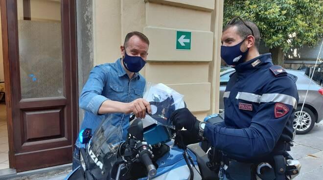 mascherine logo polizia di stato calzaturificio Michela