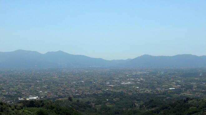 Piana di Lucca veduta da Matraia