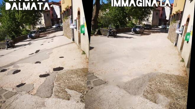 Strade con 'effetto dalmata' Borgo a Mozzano