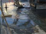 tubo rotto piazza Tripoli Altopascio