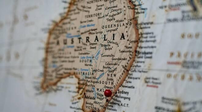 viaggio Australia mappa
