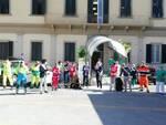 volontari, polizia municipale, vigili del fuoco, guardia di finanza all'ospedale di Empoli e Fucecchio