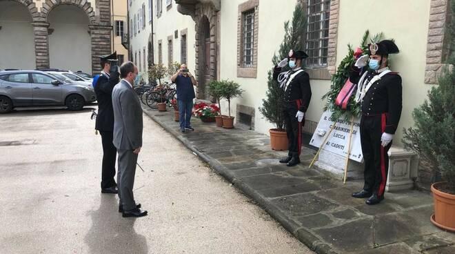 Arma Carabinieri prefetto Blasi Esposito celebrazioni
