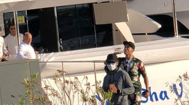 Cristiano Ronaldo e Georgina ospiti vip a Viareggio