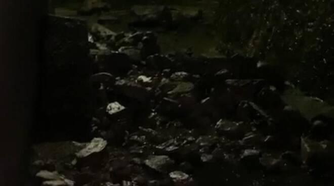 crollo al muro del duomo di barga