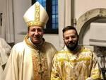 don Federico Cifelli con il vescovo Andrea Migliavacca