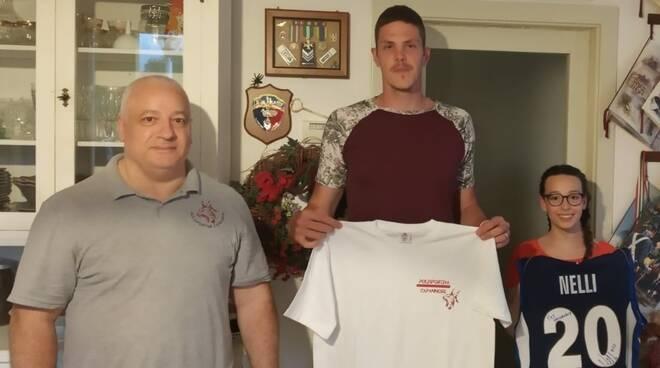 Gabriele Nelli visita polisportiva Capannori pallavolo