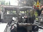 incendio furgone volterra 13 giugno 2020