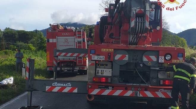 incidente San Giuliano Terme 14 giugno 2020 auto fuori strada via del Brennero