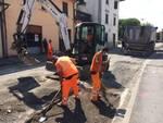 Lavori di asfaltatura in via Firenze ad Altopascio