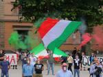 mascherine tricolori piazza Napoleone Lucca