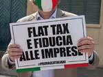Massimiliano Baldini manifestazione piazza Viareggio