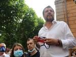Matteo Salvini colazione comizio a Lucca regionale 23 giugno 2020