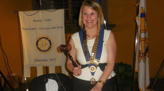 Monica De Crescenzo presidente Rotary club Fucecchio Santa Croce sull'Arno