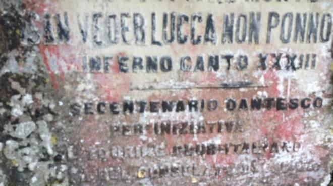 Passo di Dante busto poeta Santa Maria del Giudice