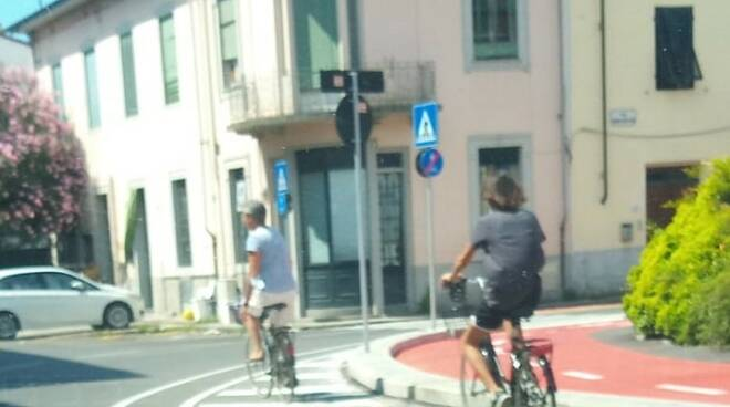 pista ciclabile via Nottolini San Concordio