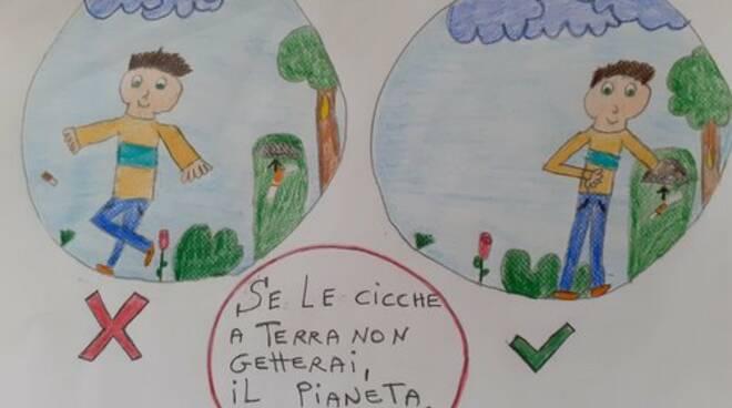 """""""Stop mozziconi di sigaretta per terra"""" scuola Minucciano"""