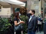 visita Matteo Salvini Lega Lucca 23 giugno 2020 comizio selfie