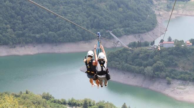 Zip line lago Vagli